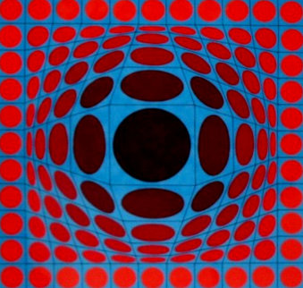 Ives 1970 Limited Edition Print by Victor Vasarely