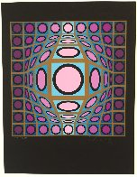 Composition Microcosmos IV 1980 Limited Edition Print by Victor Vasarely - 1