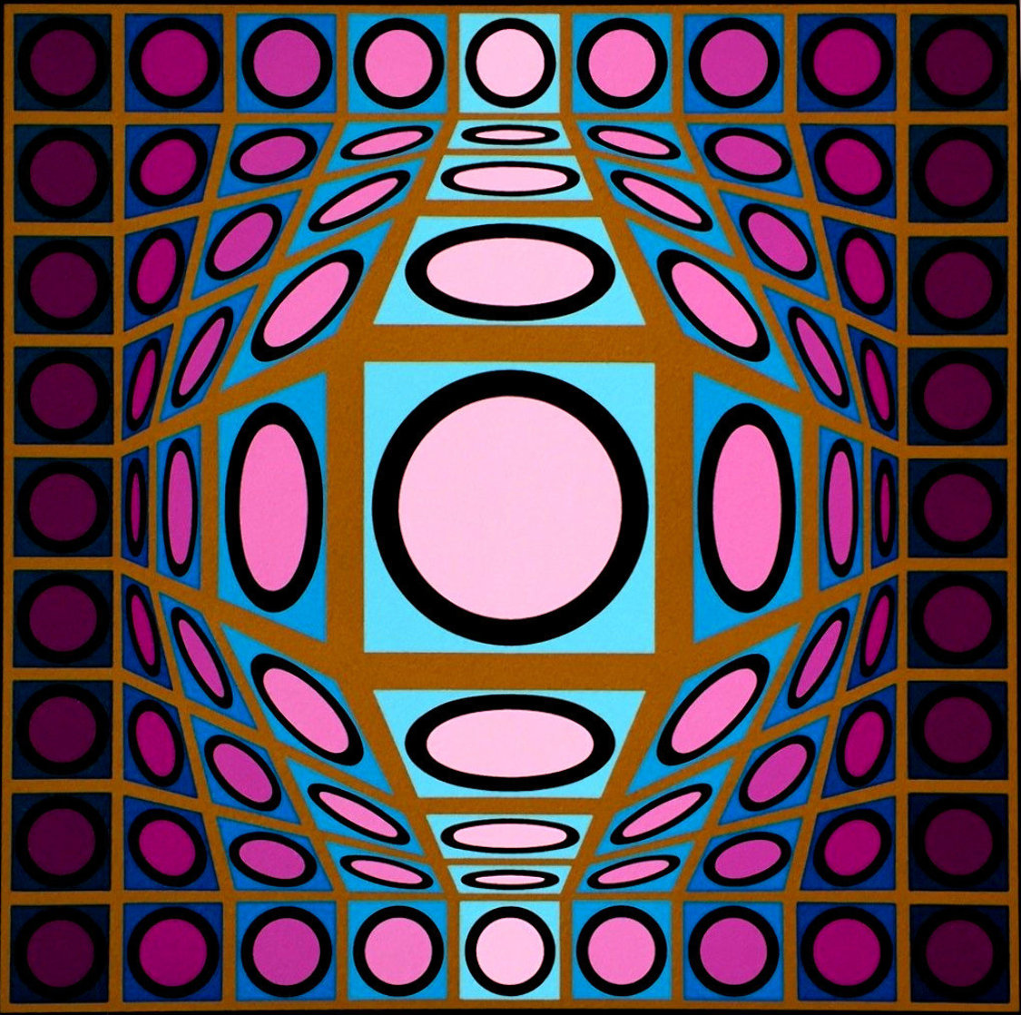 Composition Microcosmos IV 1980 Limited Edition Print by Victor Vasarely