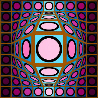 Composition Microcosmos IV 1980 Limited Edition Print - Victor Vasarely
