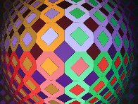 Untitled Lithograph  Limited Edition Print by Victor Vasarely - 3