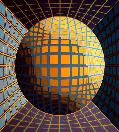 Untitled Serigraph  Limited Edition Print by Victor Vasarely