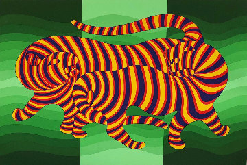 Tigers 1983 Limited Edition Print by Victor Vasarely