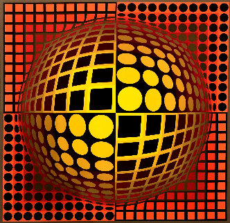 Untitled Lithograph Limited Edition Print - Victor Vasarely
