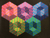 Hexa 5 EA 1988 Limited Edition Print by Victor Vasarely - 1