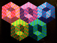 Hexa 5 EA 1988 Limited Edition Print by Victor Vasarely - 0