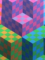 Hexa 5 EA 1988 Limited Edition Print by Victor Vasarely - 2