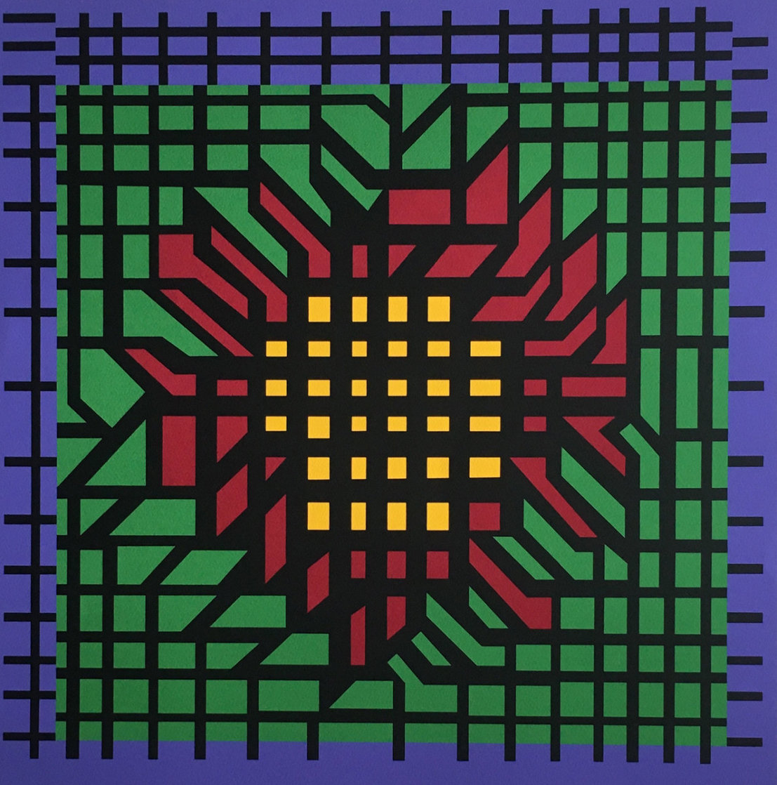 Katzag 1998 Limited Edition Print by Victor Vasarely