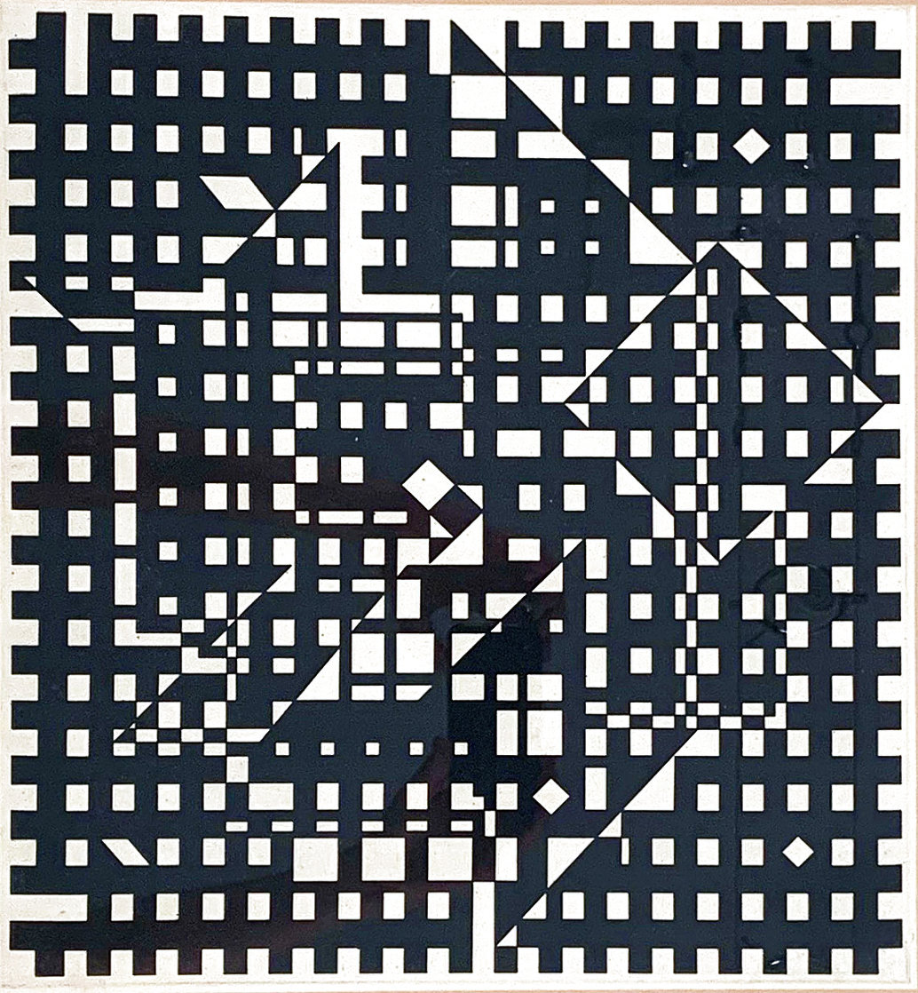 Black and White 1991 Limited Edition Print by Victor Vasarely