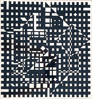 Black and White 1991 Limited Edition Print - Victor Vasarely
