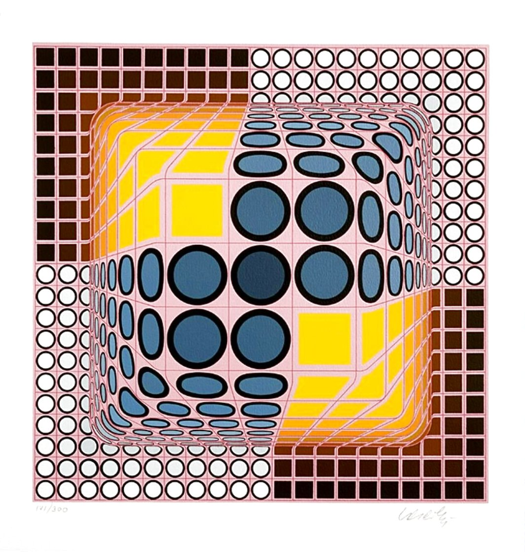 Vega Blue Limited Edition Print by Victor Vasarely