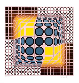 Vega Blue Limited Edition Print - Victor Vasarely