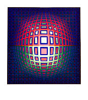Pink Composition Limited Edition Print by Victor Vasarely - 0