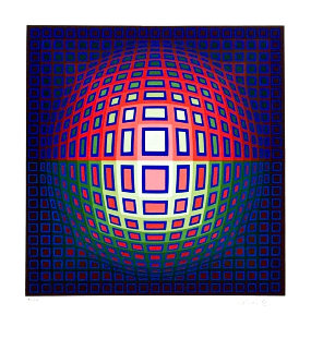 Pink Composition Limited Edition Print - Victor Vasarely