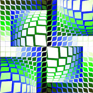 Thez 1982 Limited Edition Print - Victor Vasarely