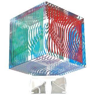 Oltar Zoelo II  Acrylic Glass Sculpture 1970 7 in Sculpture - Victor Vasarely