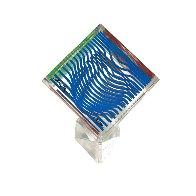 Oltar Zoelo II  Acrylic Glass Sculpture 1970 7 in Sculpture by Victor Vasarely - 1