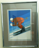 Downhill Skier 1984 Limited Edition Print by Victor Vasarely - 1
