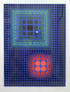 Untitled Lithograph 1980 Limited Edition Print - Victor Vasarely