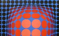 Untitled Lithograph 1980 Limited Edition Print by Victor Vasarely - 2
