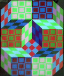 Untitled Lithograph 1980 Limited Edition Print by Victor Vasarely