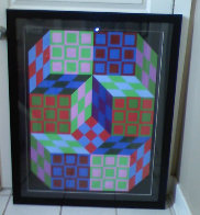 Untitled Lithograph 1980 Limited Edition Print by Victor Vasarely - 1