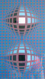 Untitled Serigraph 1974 Limited Edition Print by Victor Vasarely