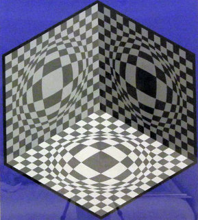 Cubic Relationship  1982 Limited Edition Print by Victor Vasarely