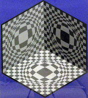 Cubic Relationship Limited Edition Print by Victor Vasarely - 4