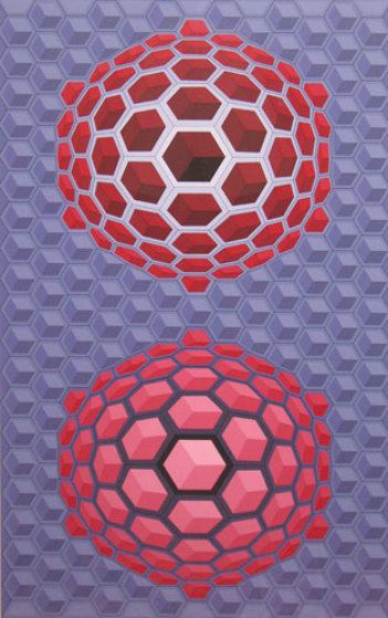 Hat Meb  1971 Limited Edition Print by Victor Vasarely