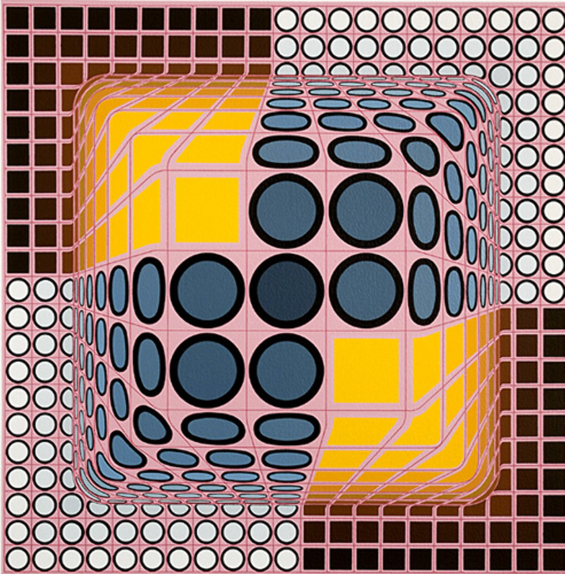 Pink Composition Limited Edition Print by Victor Vasarely