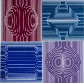 Tokyo 1982 Limited Edition Print - Victor Vasarely
