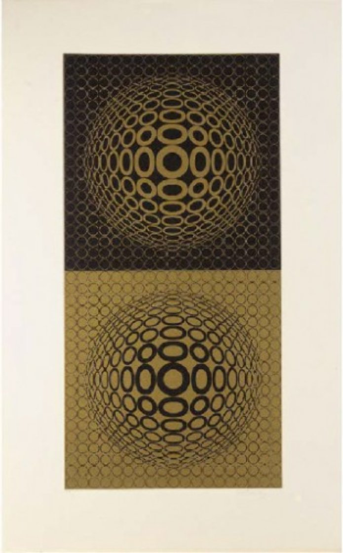 Abstract Composition 31 Limited Edition Print by Victor Vasarely