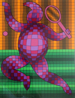 Tennis Player 2 Limited Edition Print by Victor Vasarely