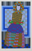 Fille Fleur  1982 Limited Edition Print by Victor Vasarely - 1