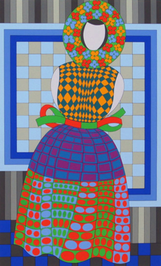 Fille Fleur  1982 Limited Edition Print by Victor Vasarely