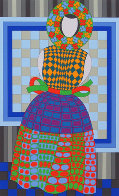 Fille Fleur  1982 Limited Edition Print by Victor Vasarely - 0