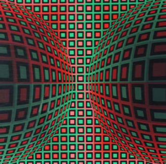 Untitled Screenprint AP 1970 Limited Edition Print by Victor Vasarely