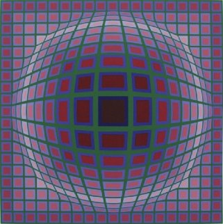 Titan A 1985 Limited Edition Print - Victor Vasarely