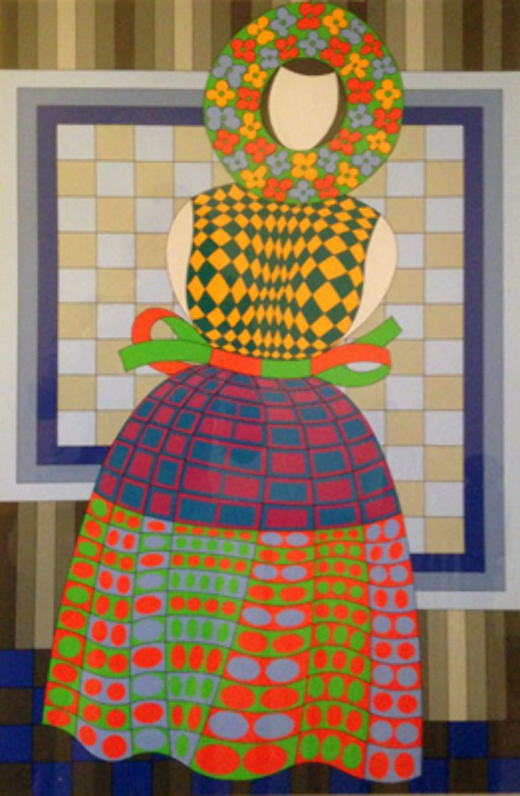 Fille Femme 1982 Limited Edition Print by Victor Vasarely