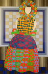 Fille Femme 1982 Limited Edition Print - Victor Vasarely
