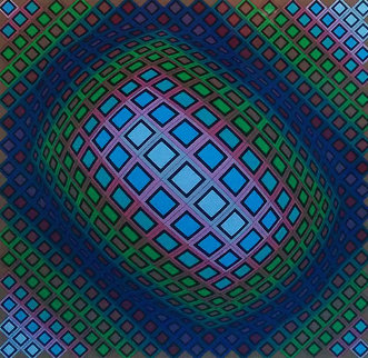 Untitled Serigraph  Limited Edition Print - Victor Vasarely