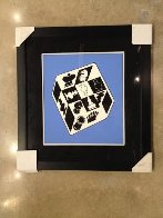 Chess Blue 1950 Limited Edition Print by Victor Vasarely - 2
