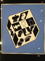 Chess Blue 1950 Limited Edition Print by Victor Vasarely - 1