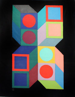 Hexa 5 1987 Limited Edition Print - Victor Vasarely