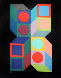 Hexa 5 1987 Limited Edition Print by Victor Vasarely - 0
