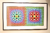 Composition Ionau 1987 72x40 Limited Edition Print by Victor Vasarely - 1