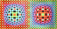 Composition Ionau 1987 72x40 Limited Edition Print by Victor Vasarely - 0