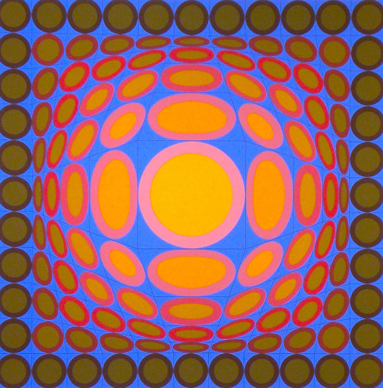 Tri-vega 1975 Limited Edition Print by Victor Vasarely