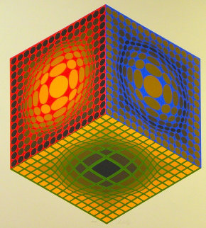 Cube 1980 Limited Edition Print - Victor Vasarely